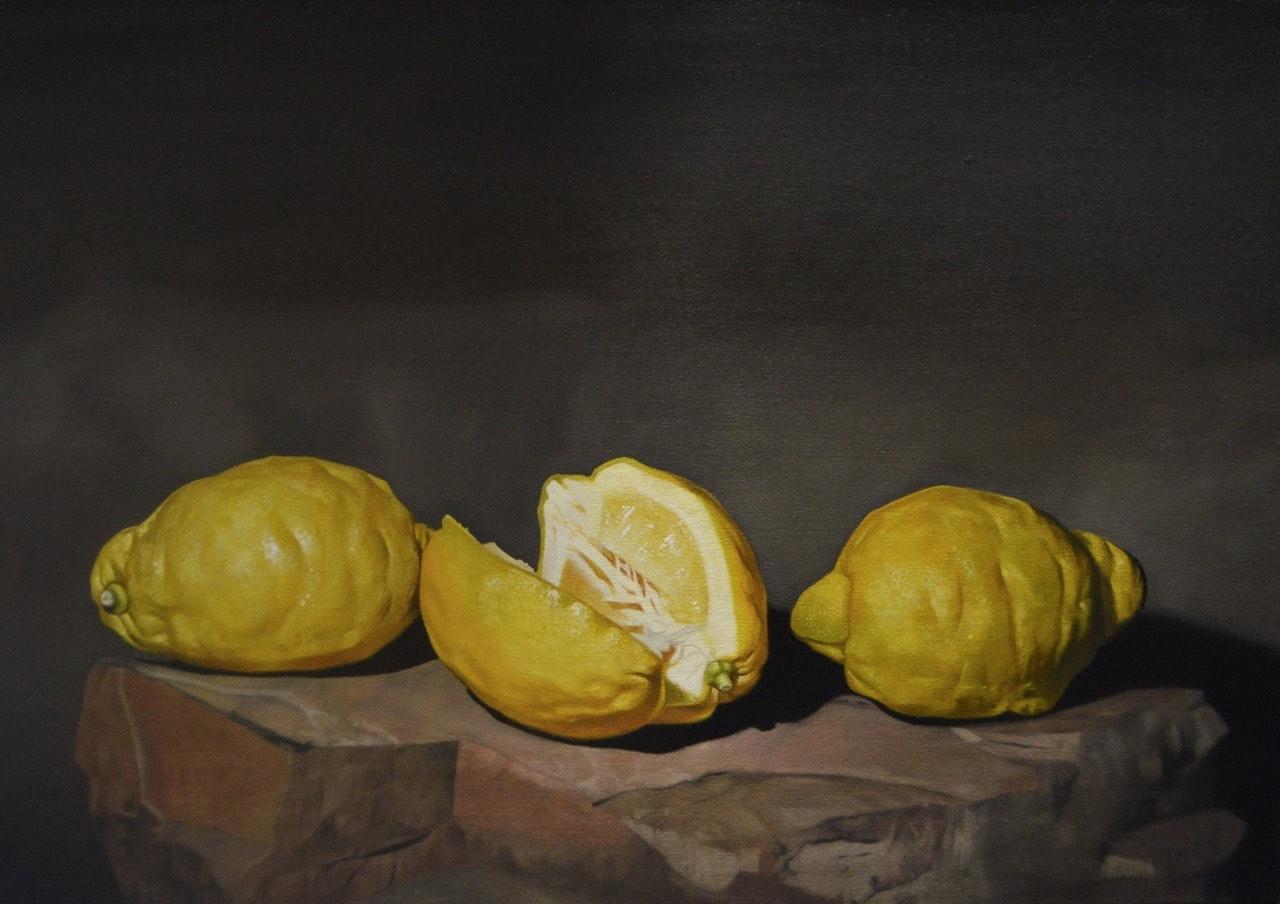 Paul Stone  Trinity Lemon  Oil on canvas board, 40 x 57 x 3 cm   http://www.facebook.com/Paul-Stone-Artworks