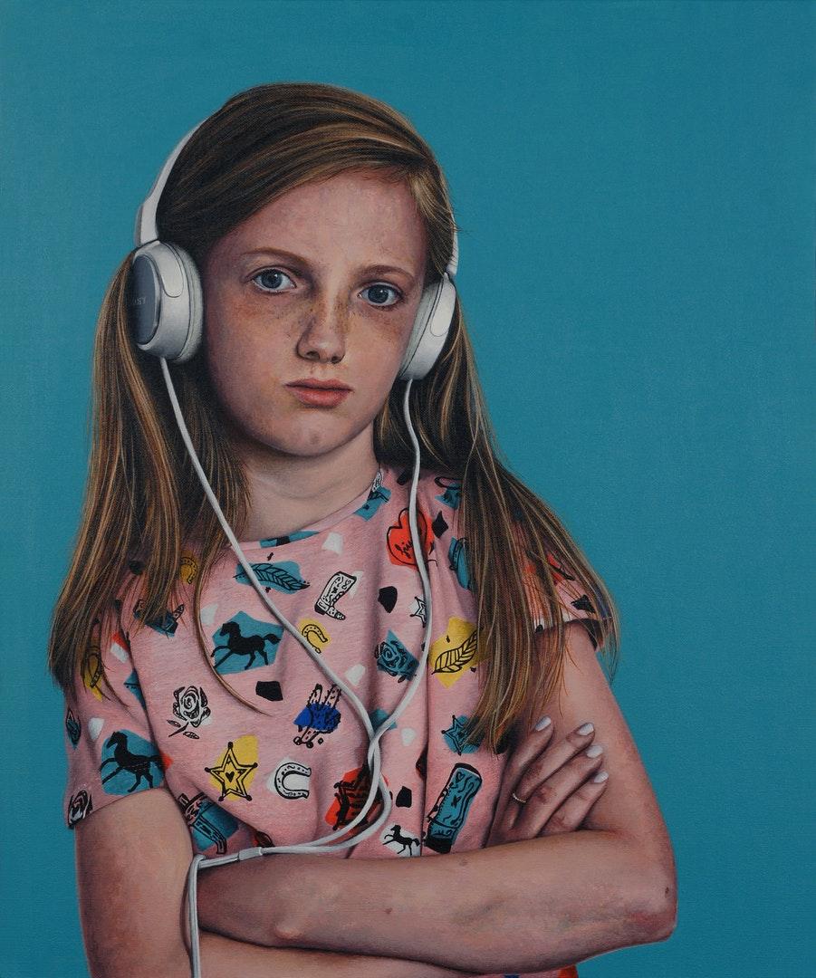 Peter Davis  Girls like you  Acrylic on board, 61 x 51 x 1 cm  http://www.peterdavisartist.com