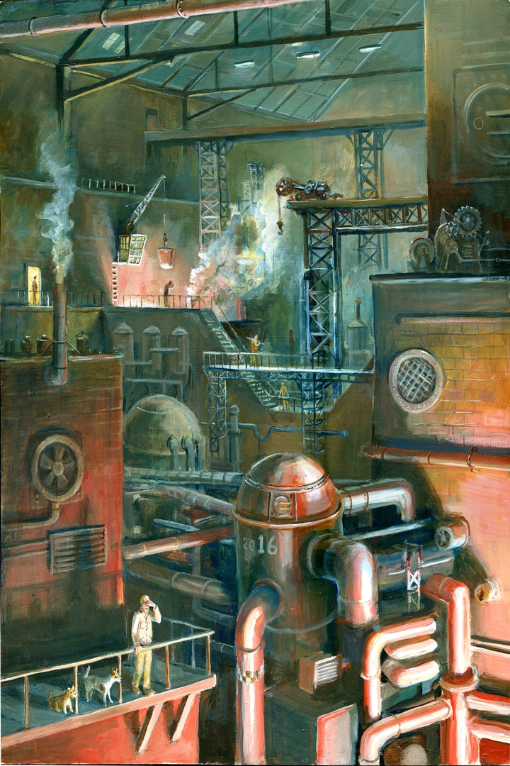 Phil Lockwood  Tapping Couldron No. 16  Acrylic on board, 100 x 70 x 3 cm  http://www.phil-lockwood.com