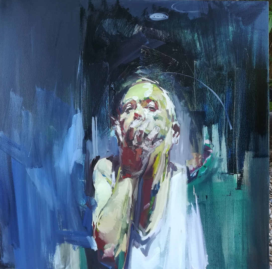 Philip Tyler  100 Days  Oil on canvas, 100 x 100 x 4 cm  https://philip-tyler-artist.squarespace.com/