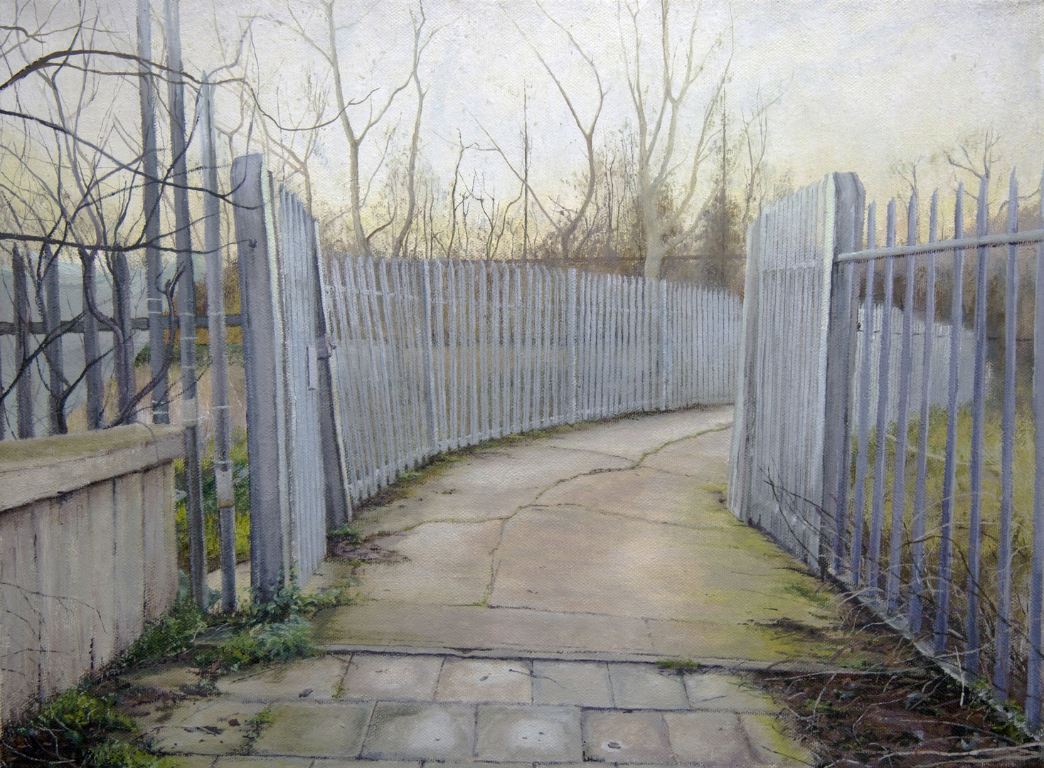 Rob Reed  Avenue  Oil on canvas, 42 x 62 x 2 cm  http://robreedpaintings.com