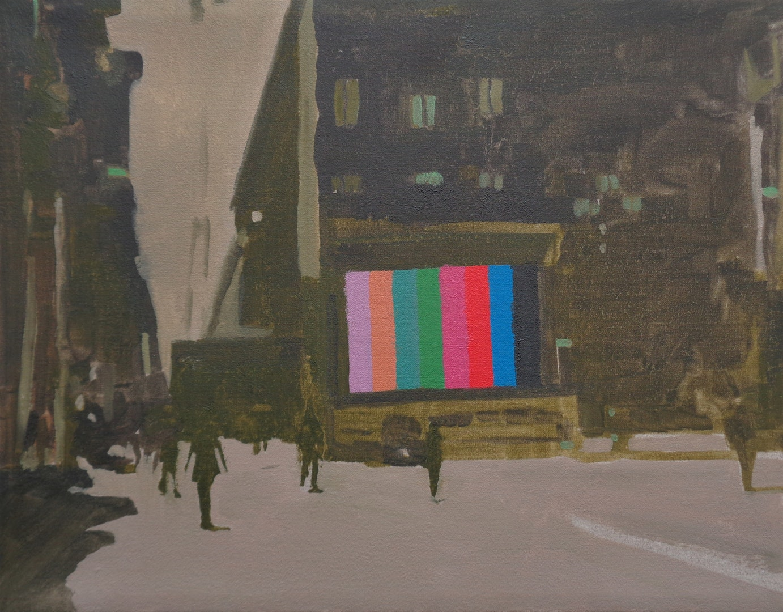 Salvatore Fiorello  Screen  Oil on linen, 27 x 34 x 2 cm  http://www.salvatorefiorello.co.uk