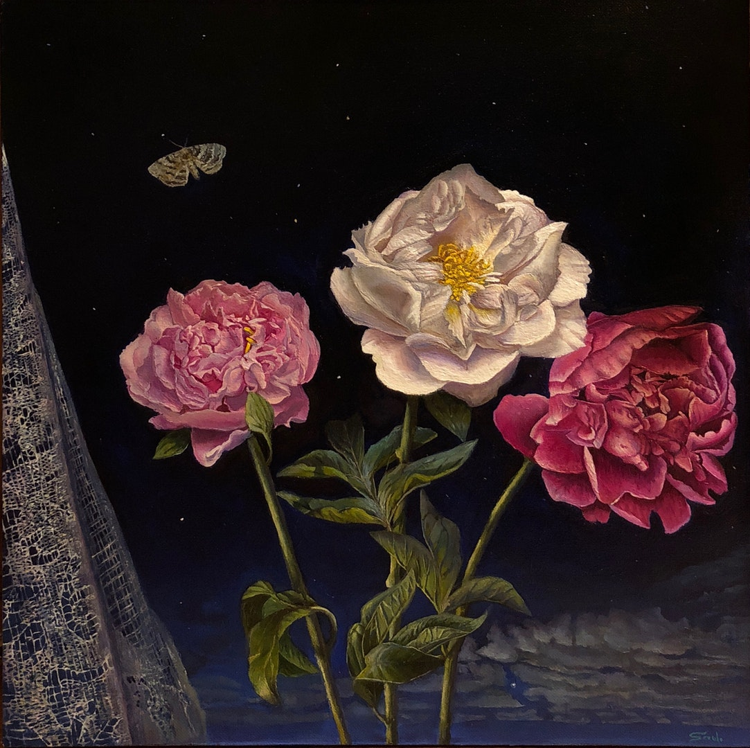 Sophie Saul  Summertime thoughts  Oil on canvas, 60 x 60 cm  https://www.instagram.com/artssaul/