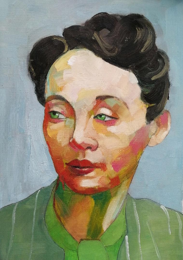 Sophie Wykes  Marguerite  Oil on paper, 29 x 21 cm