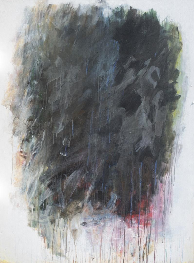 Staphan Sarkissian  A Bourgeois Dilemna  Acrylic and oil stick on canvas, 161.2 x 122 cm  http://sarkipainting.com