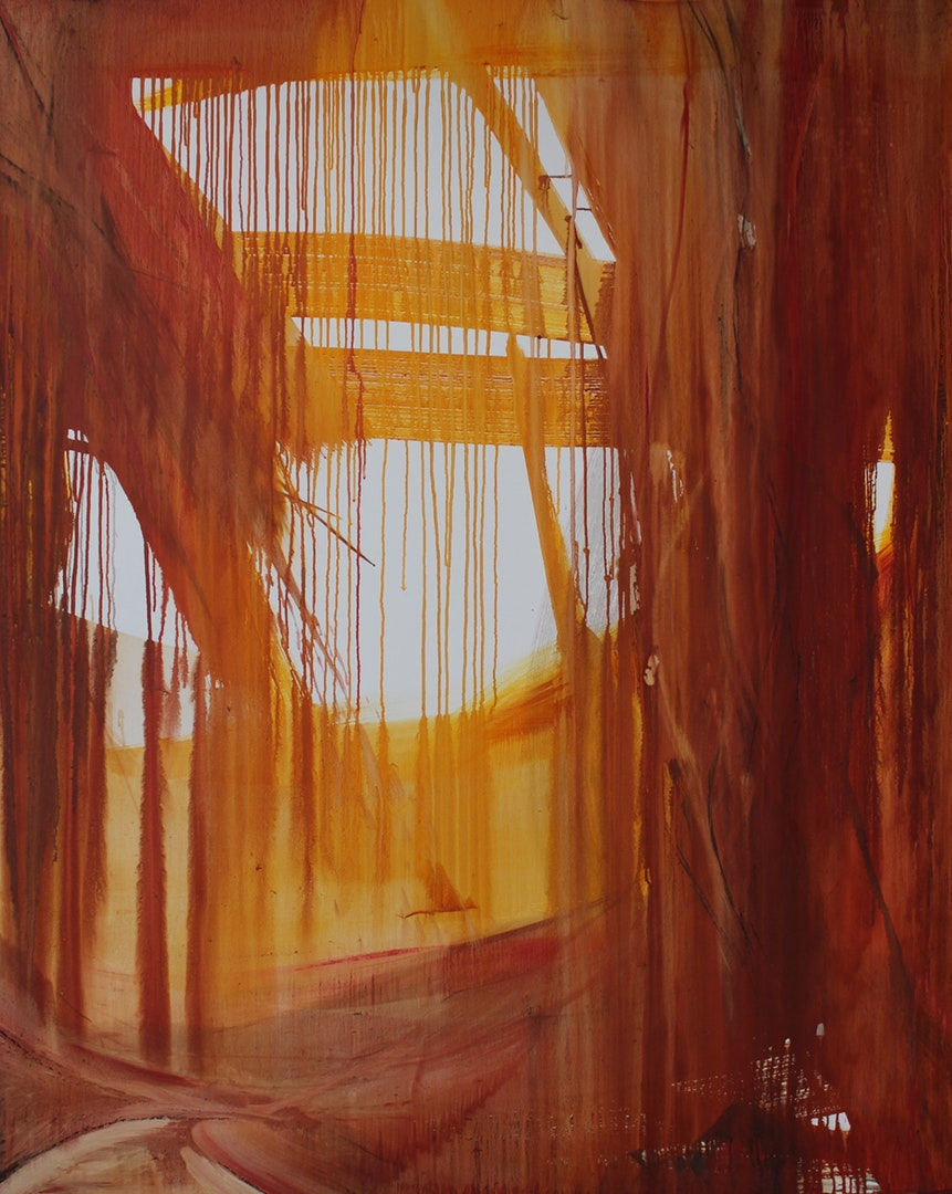 Tania denton  Encounter  Oil on canvas, 150 x 120 cm  https://www.taniadenton.org