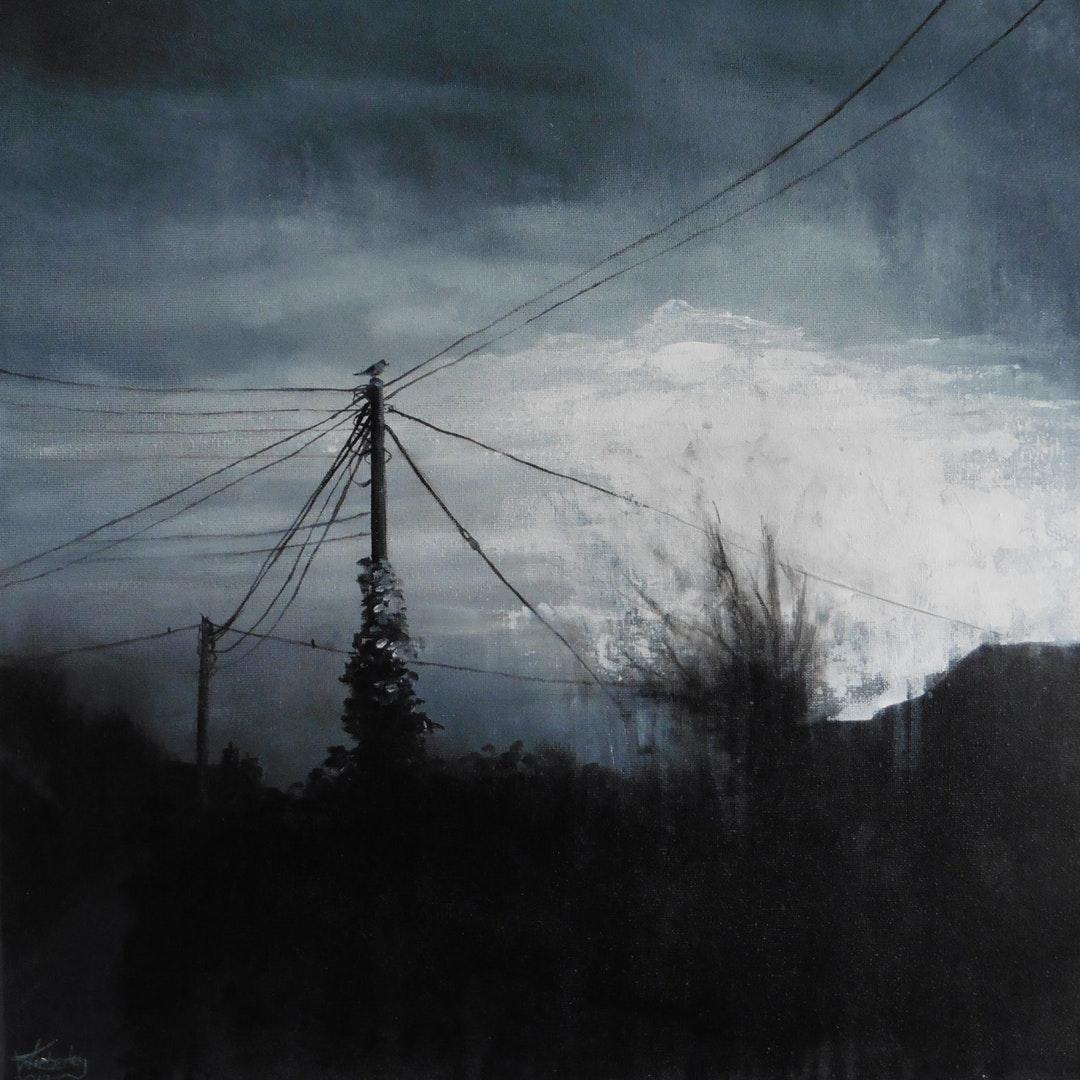 Wendy Kimberley  Waiting for May  Acrylic on canvas, 50 x 50 x 2 cm  http://www.wendykimberleyart.com