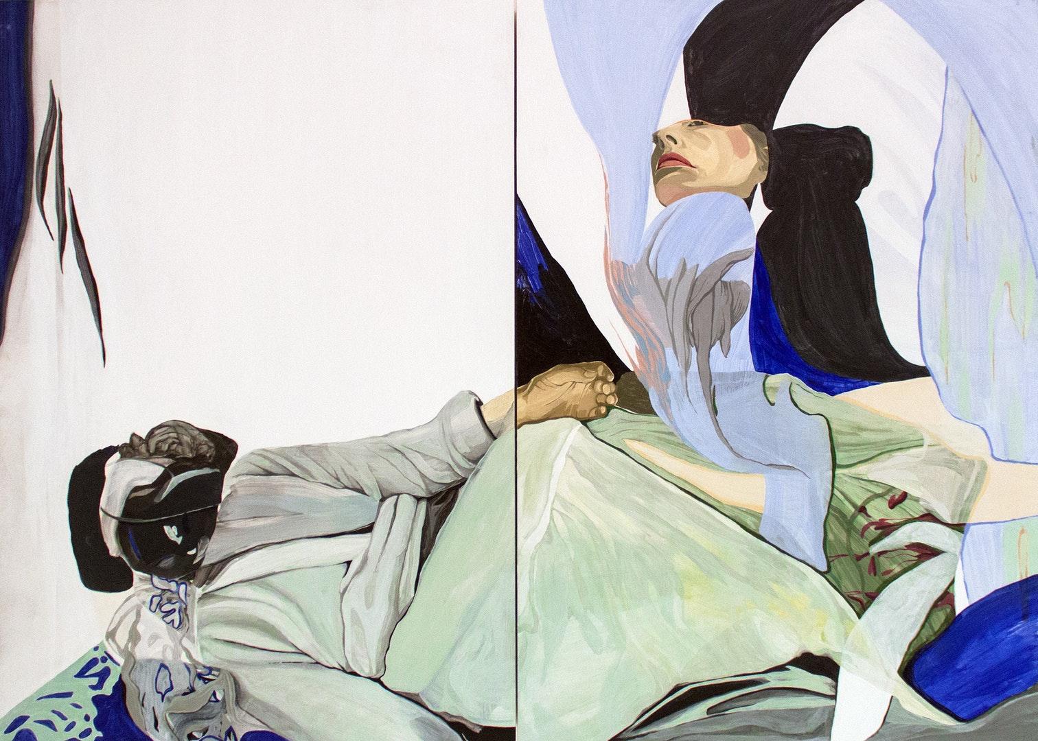 Magdalena Gluszak - Holeksa  Between Man and Man  Oil on board, 61 x 85 x 4.4 cm  http://www.magdalenagluszak.com