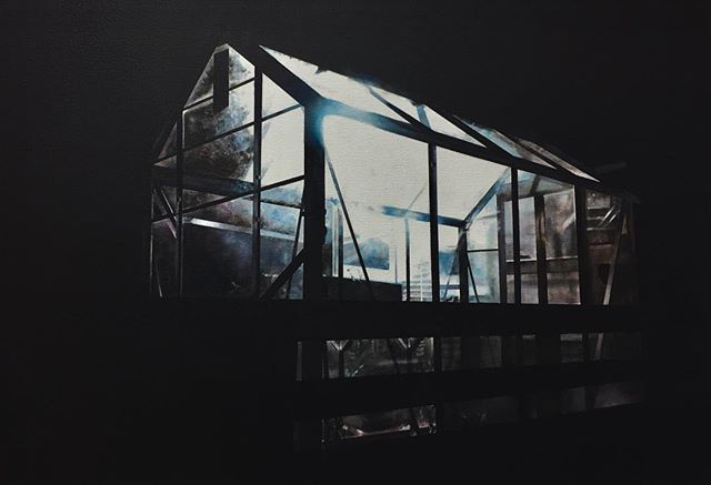 Jackson's Open Painting Prize 2019 Shortlisted Entry  Christopher Campbell Glass house Oil on canvas, 45 x 65 x 3 cm . #jopp2019 #jacksonsopenpaintingprize2019 #joppshortlist2019
