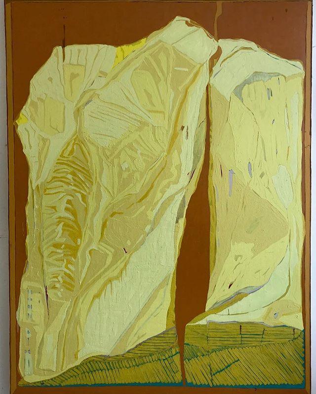 Jacksons's Open Painting Prize 2019 Shortlisted Entry  Clare Thatcher Vision of Landscape Oil & pigment on canvas, 200 x 150 x 5 cm  #jopp2019 #jacksonsopenpaintingprize2019 #joppshortlist2019