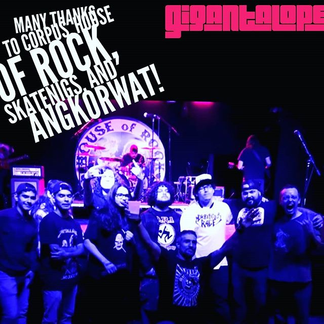 Huge thanks to @therealangkorwat @houseorock & #skatenigs for the party and slammin' time this past Saturday night. Also a huge thanks to everyone who came out to show love for heavy music and the #Texas scene as a whole. That's what it's all about. * * * #Gigantalope #gigantalopeparty #groove #houseofrock #musicmakers #texasmusic #austintx #livemusic #loudampsintheface @kodykarnei @scottvoodoo #corpuschristi #metal #cctx @dr_steve_pope @kaijulabs #corpus @morbitiousrage