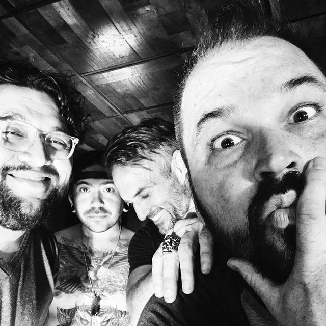 "🛸New jams, new shows, new vibes.🛸 ! * "" * @kodykarnei @scottvoodoo @lordbulger @kaijulabs #Gigantalope #gigantalopeparty @voodoocrossfit #groove #austinmetal #metal #musicmakers #bandphotography #team #party #tattoos"