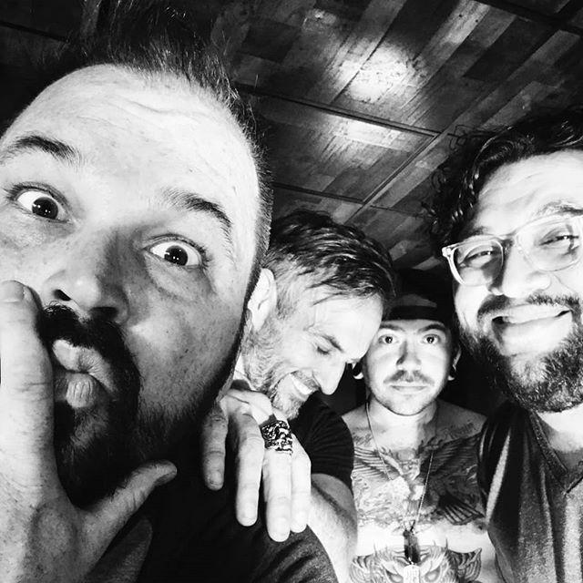"New jams, new shows, new vibes. ! * "" * @kodykarnei @scottvoodoo @lordbulger @kaijulabs #Gigantalope #gigantalopeparty @voodoocrossfit #groove #austinmetal #metal #musicmakers"