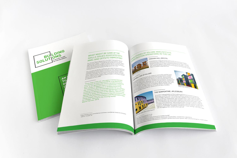 Portfolio project: Building solutions brochure | Beehive Green Design Studio