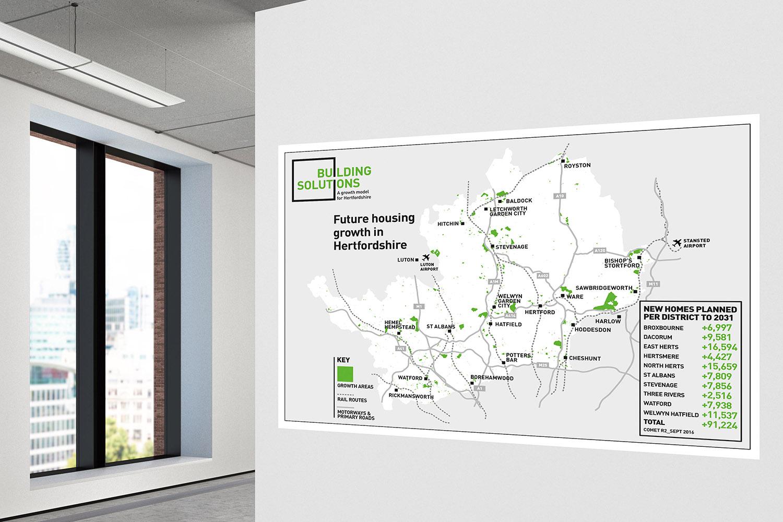 Portfolio project: Building solutions display map | Beehive Green Design Studio
