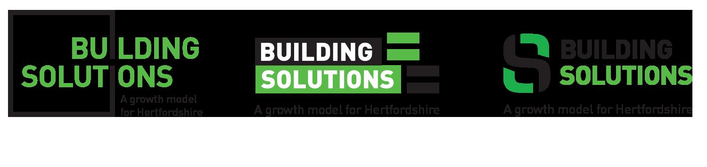 Portfolio project: Building solutions logo concepts