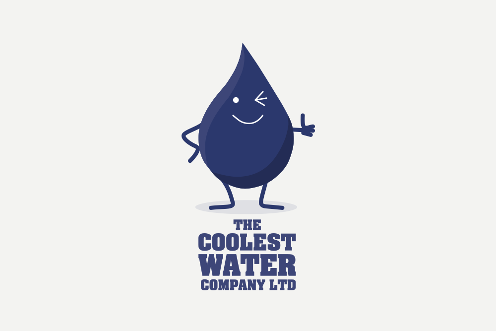 Portfolio project: The Coolest Water Ltd logo | Beehive Green Design Studio
