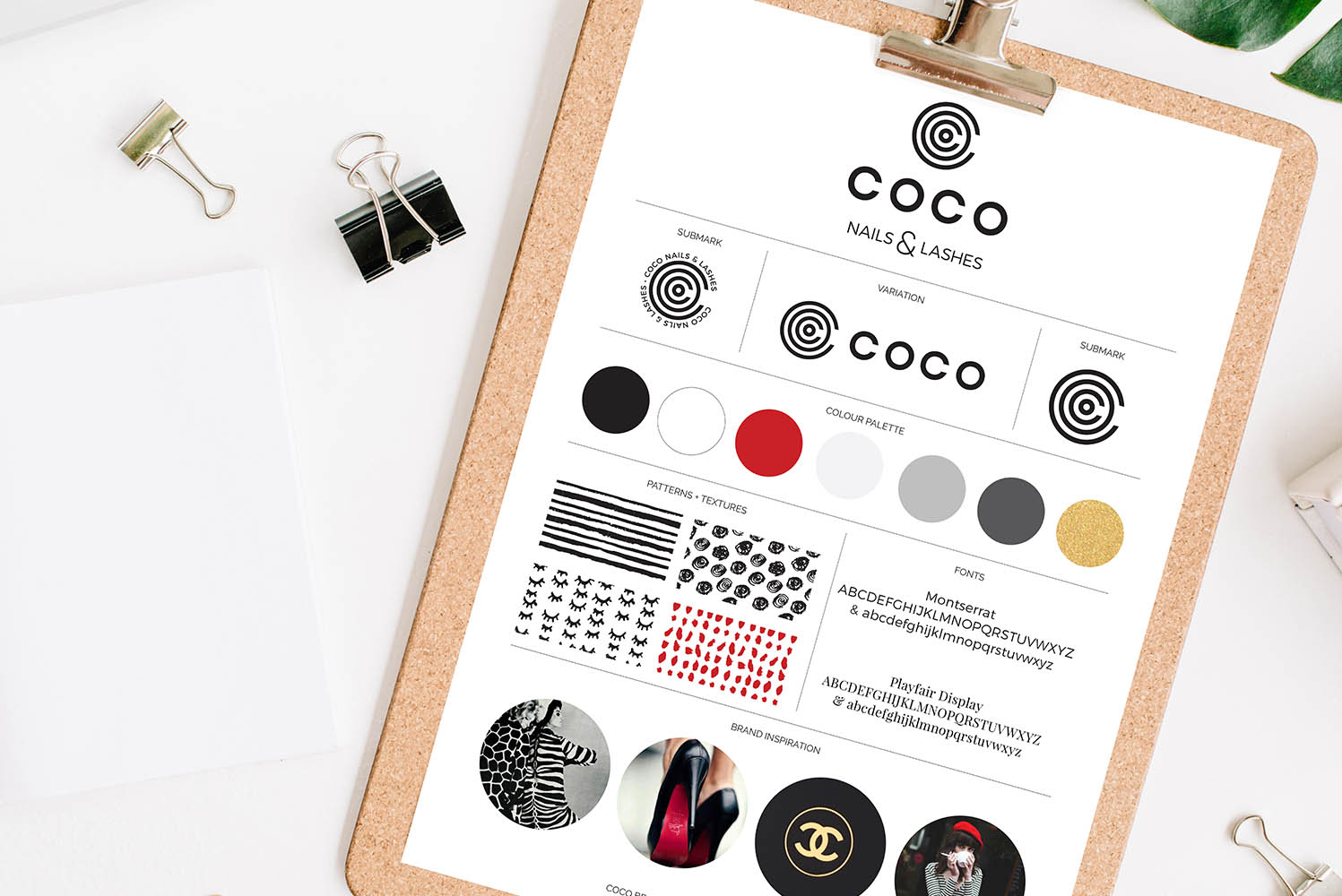 Portfolio project: Coco brand board | Beehive Green Design Studio