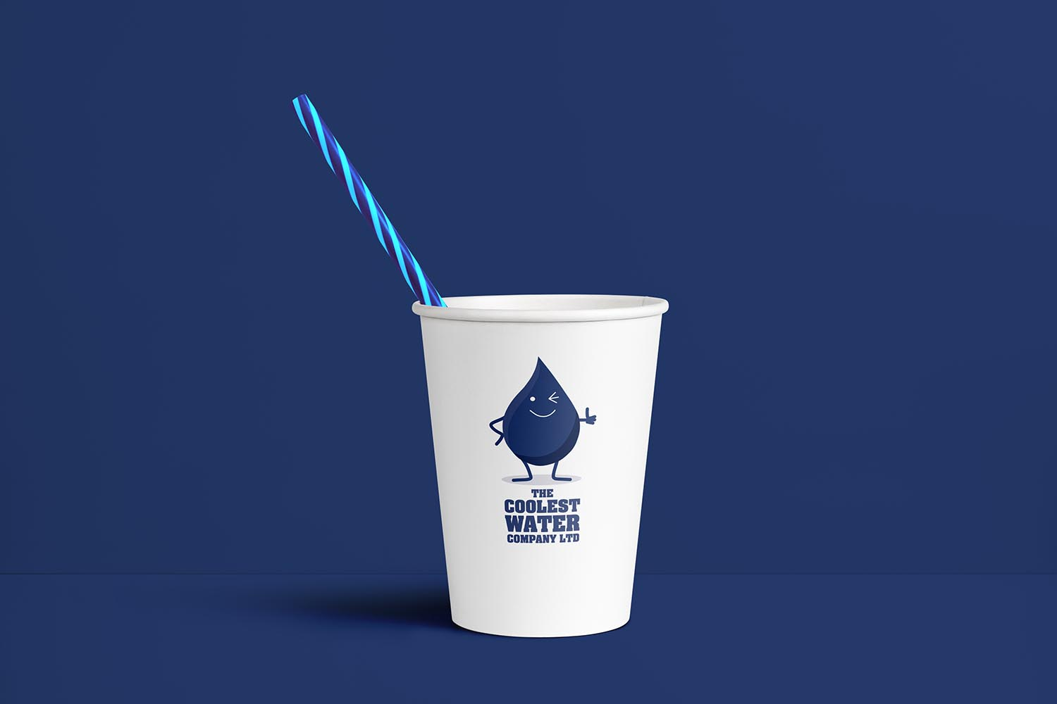 Portfolio project: The Coolest Water Ltd paper cup | Beehive Green Design Studio