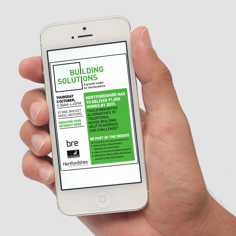 Portfolio project: Building solutions banner | Beehive Green Design Studio