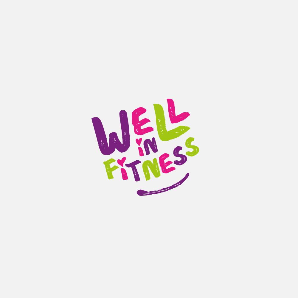 Portfolio | Well In Fitness logo | Beehive Green Design Studio