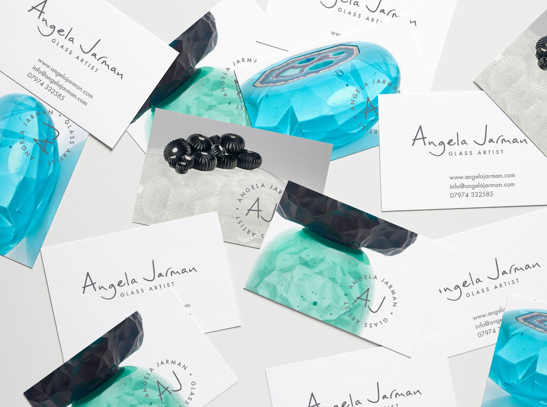 Blog   Brand Identity Project Case study: Angela Jarman Glass Artist   Beehive Green Design Studio   Logo and Branding Design, WGC, Hertfordshire