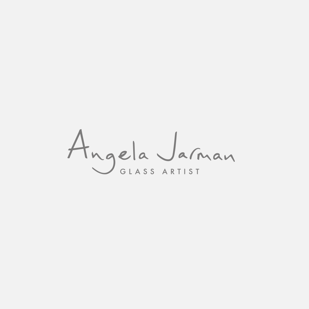 Portfolio | Angela Jarman Glass Artist logo | Beehive Green Design Studio
