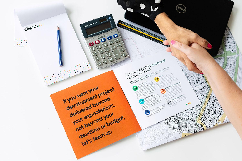 Portfolio project: Ellipsis brochure design | Beehive Green Design Studio