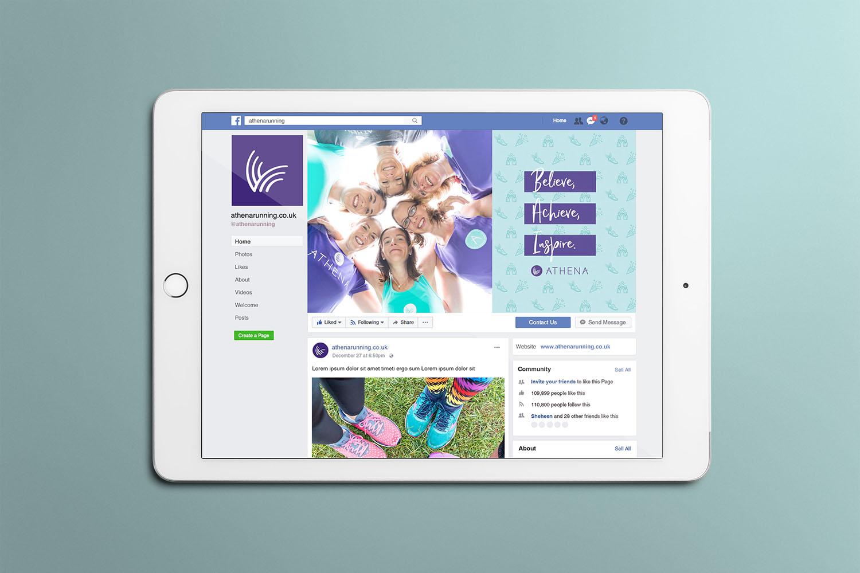Portfolio project: Athena Facebook cover social profile design   Beehive Green Design Studio