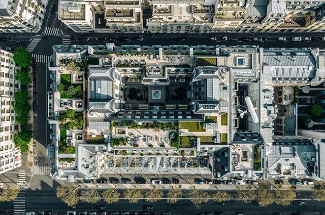 A great pleasure to be the first production team to capture @thepeninsulaparis from an aerial perspective😍📷🎥