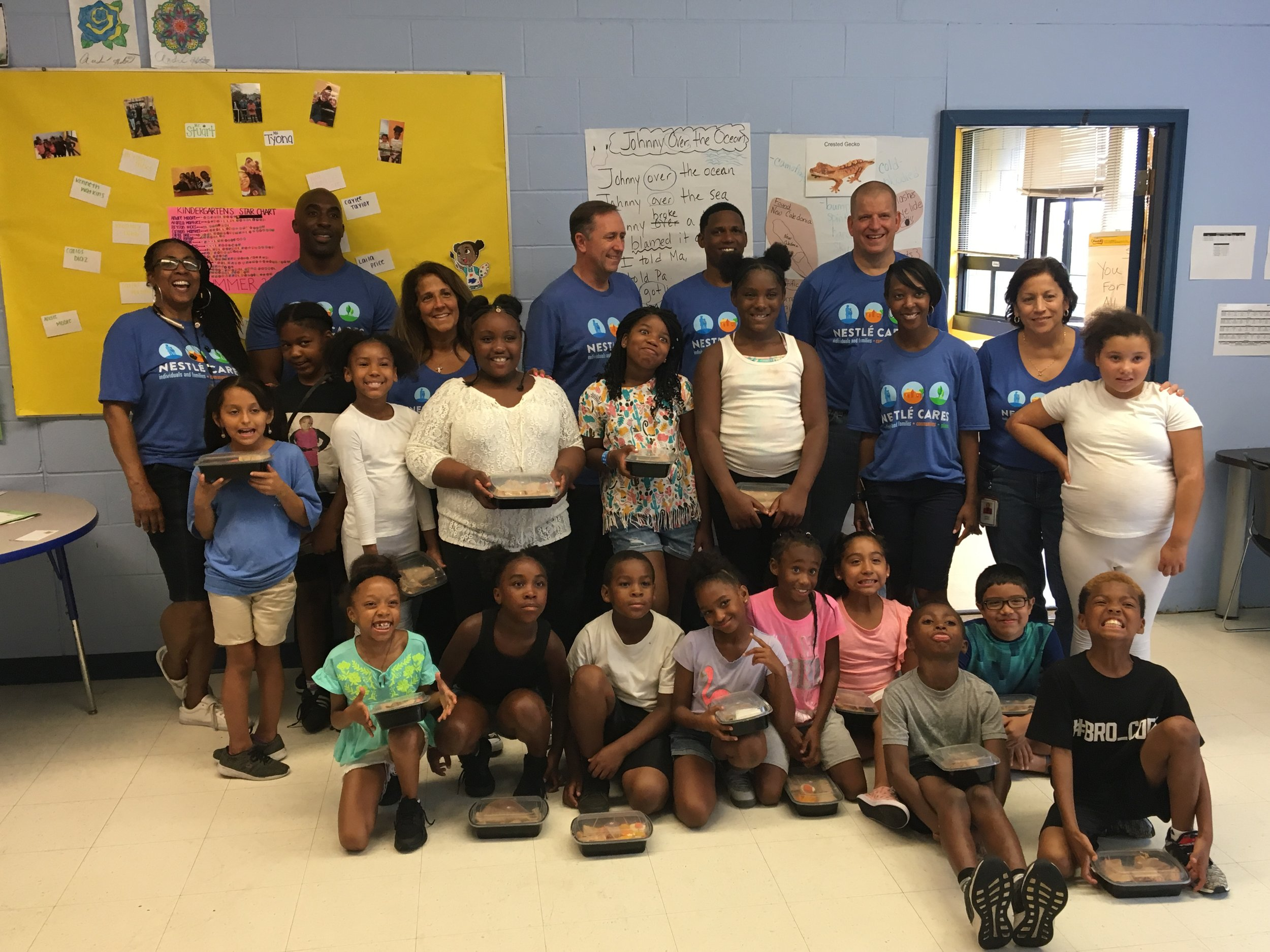 Nestle Waters made healthy snacks for our Chester Addison kids to eat and take home.