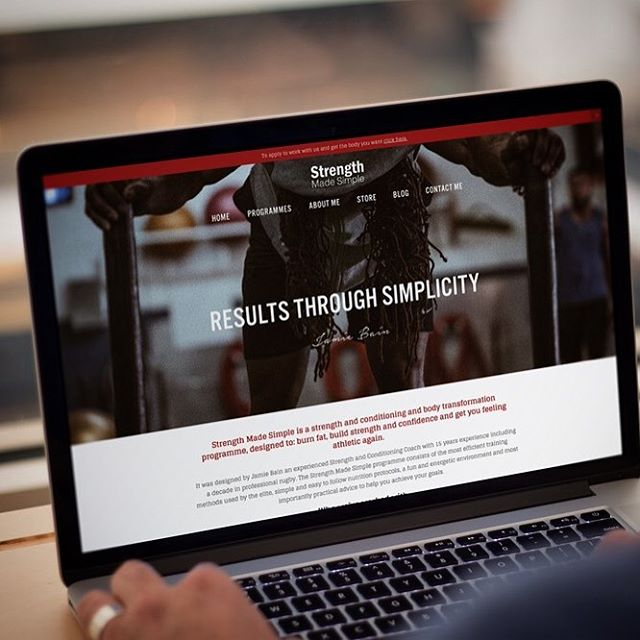 New website just launched for @strength_made_simple. . . #webdesign #website #design #graphicdesign #bedford #bedfordbusiness #branding #bedfordshire #lucky14 #bedshour #illustration #logodesign #logo #marketing