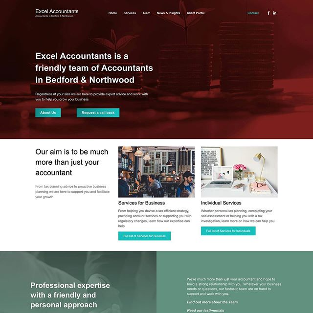 New site just launched for Excel Accountants along with some very kind words. . . #webdesign #website #design #graphicdesign #bedford #bedfordbusiness #branding #bedfordshire #lucky14 #bedshour #illustration #logodesign #logo #marketing