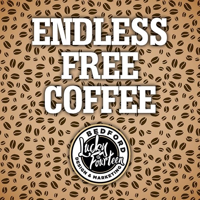 Want endless free coffee? Come work for Lucky 14. Link in bio. . . #webdesign #website #design #graphicdesign #bedford #bedfordbusiness #branding #bedfordshire #lucky14 #bedshour #illustration #logodesign #logo #marketing