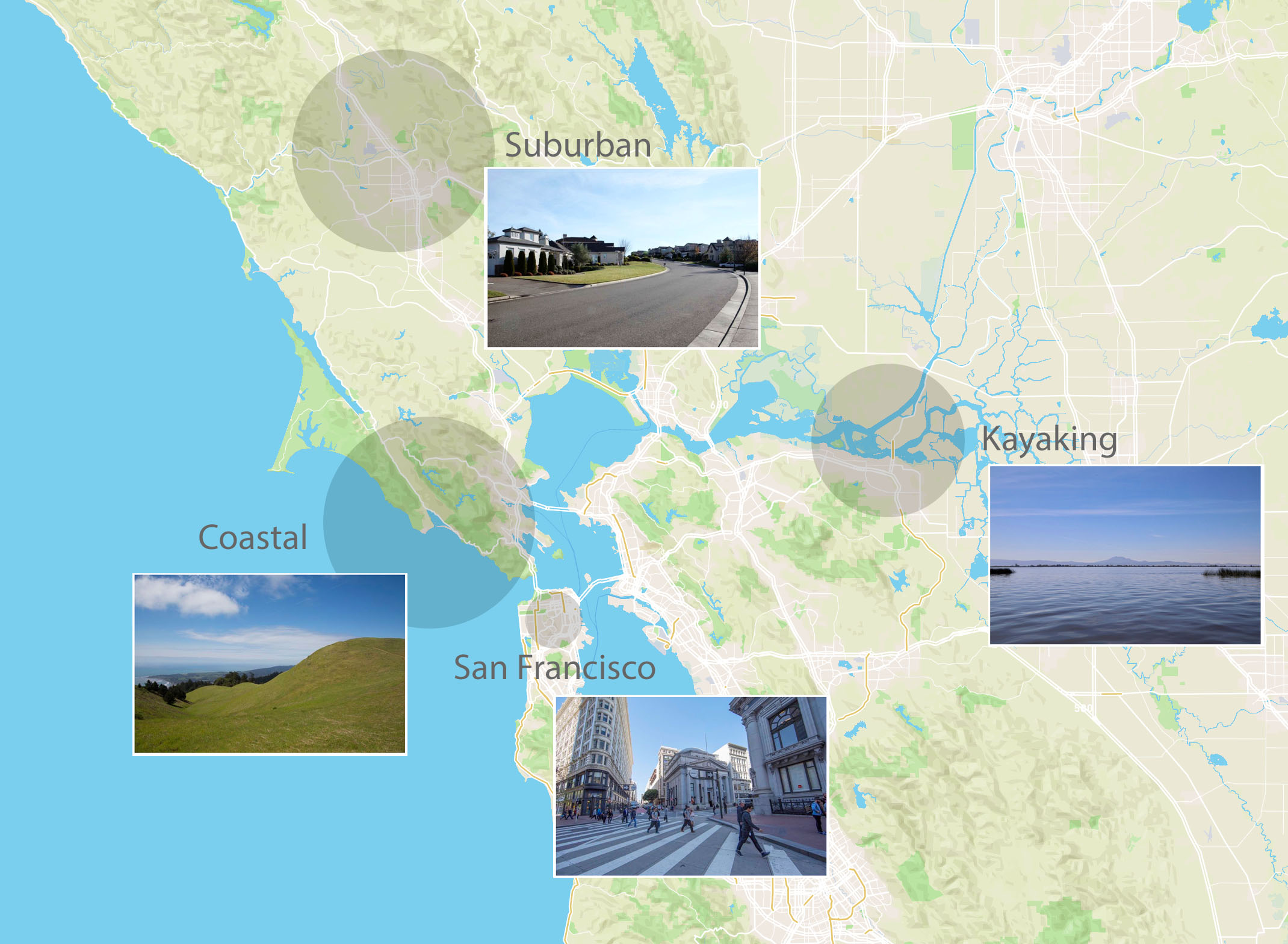 The San Francisco Bay area was a natural fit. We pulled locations from our extensive database in the region and started scouting.