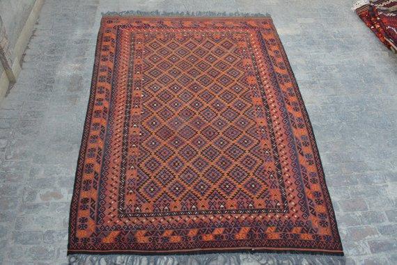 Traditional Handmade Afghan Ghallmori Vintage Rug