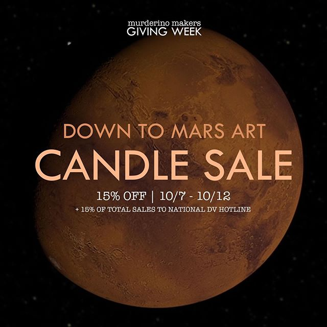 It's @murderinomakers giving week! I've decided to make all candles 15% off this week in addition to giving 15% of all sales to @ndvhofficial 🧡 #murderino #murderinomakers #candlemaker #candle #candles #candlesale #candleshop #fallcandles #essentialoilcandles