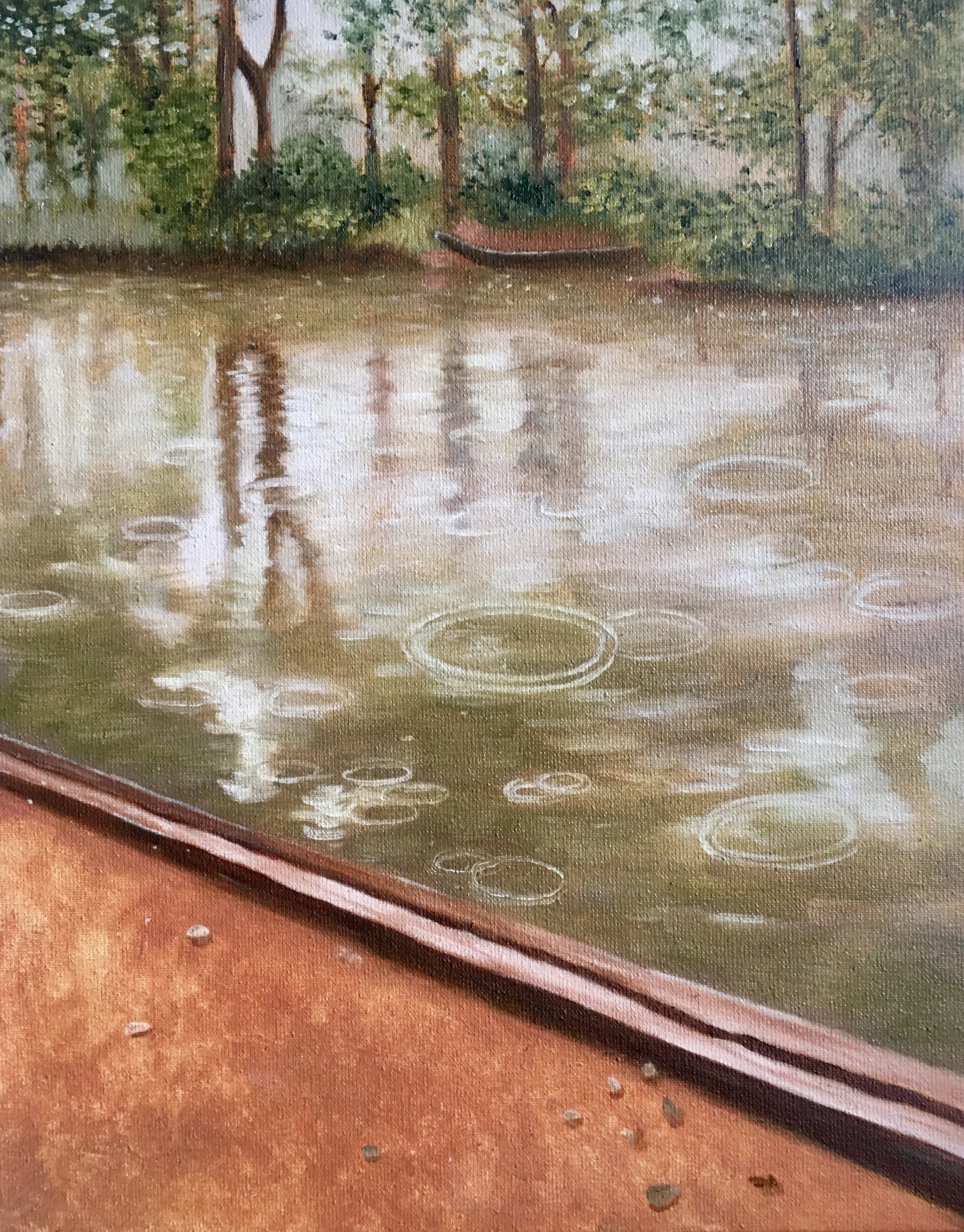 Study of Gustave Caillebotte, Yerres in the Rain