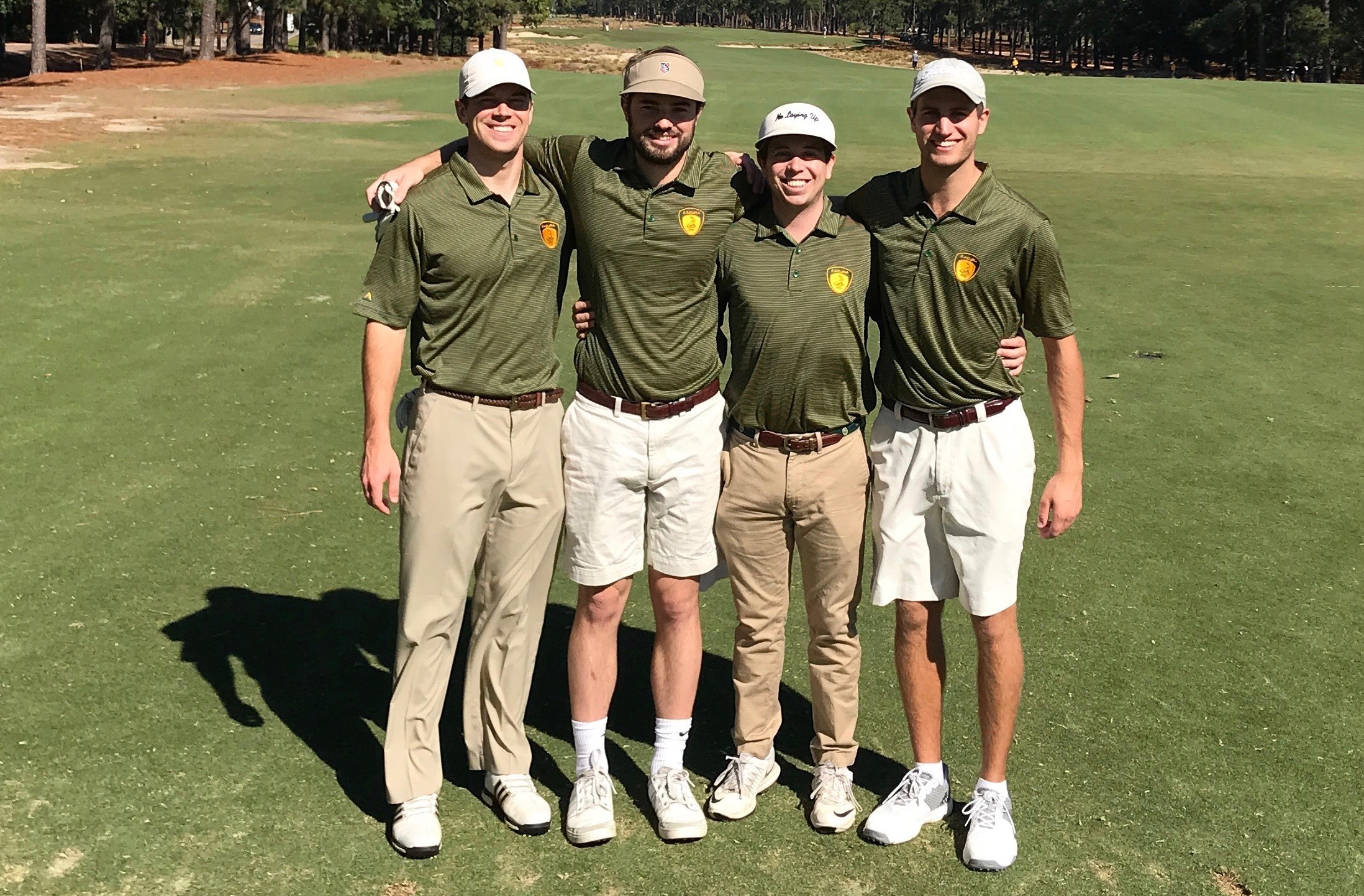 Previous Winners Pictured at Pinehurst No. 2 - (L to R): Greg Schultz (MSHA Class 51), Albert Elmore, Alex Snow, Brandon Saureman