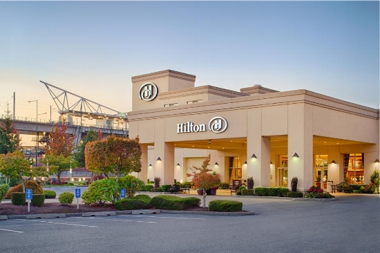 Hilton Seattle Airport & Conference Center - 5 minute transfer from airport; 30 minutes from downtown; Numerous overnight flights out