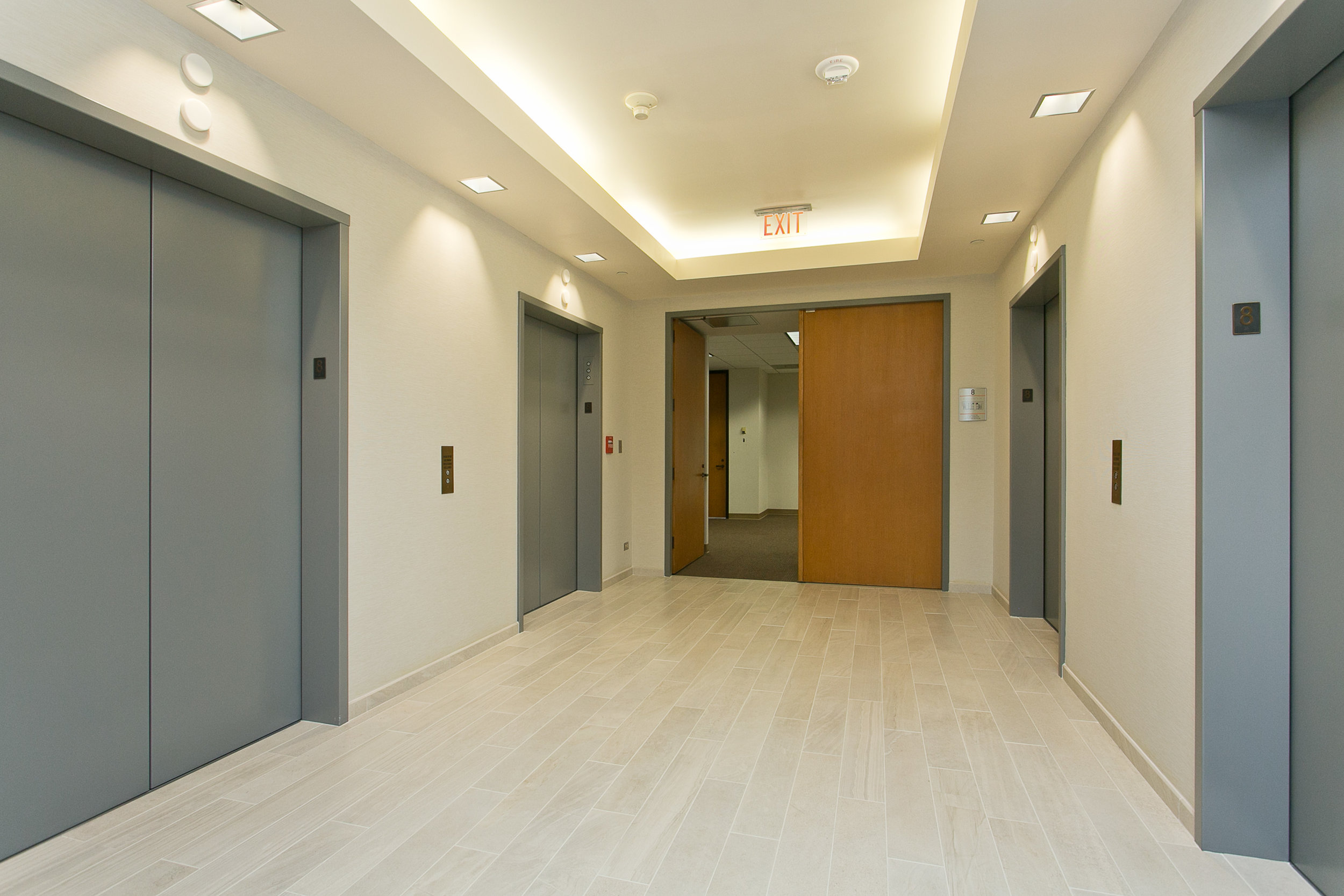Renovated Elevator Lobbies