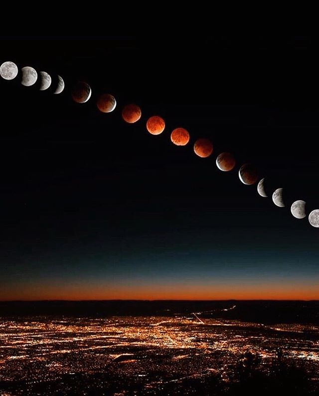 We've been riding that full Blood Moon eclipse energy all day, taking her real easy as we sit in the shadow of it all. How has it been for you? (Photo via Pinterest)