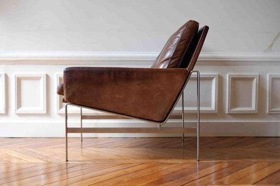 The Easy Chair, modèle FK 6720, designed in 1968 by Danish interior designers, Preben Fabricius & Jørgen Kastholm