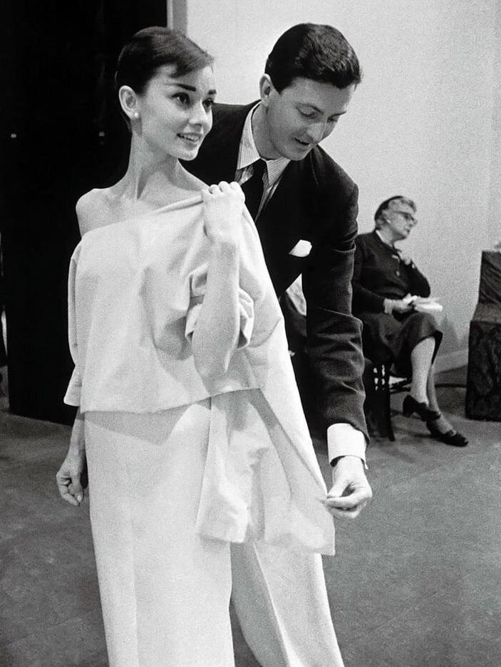 Givenchy fitting Audrey Hepburn 1956