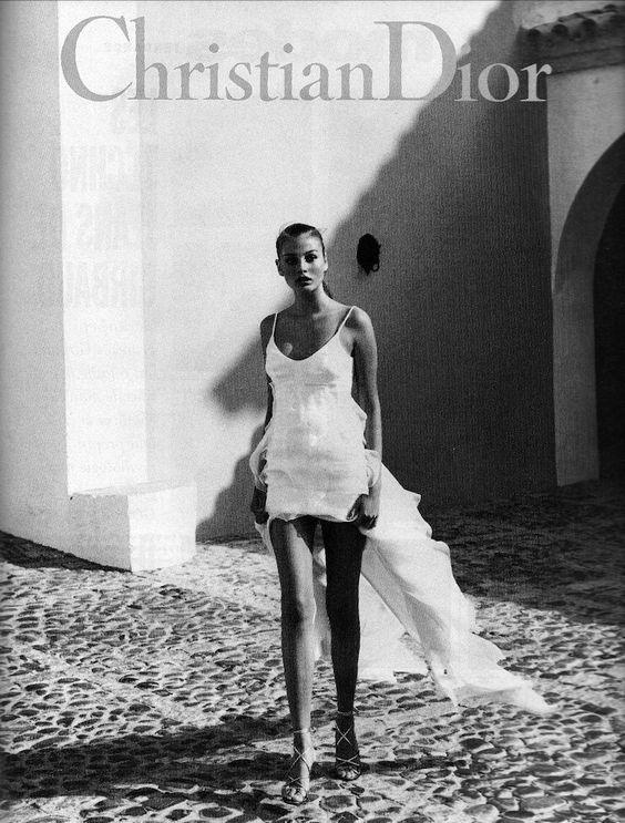 Bridget Hall for Dior - 1994 by Mario Testino