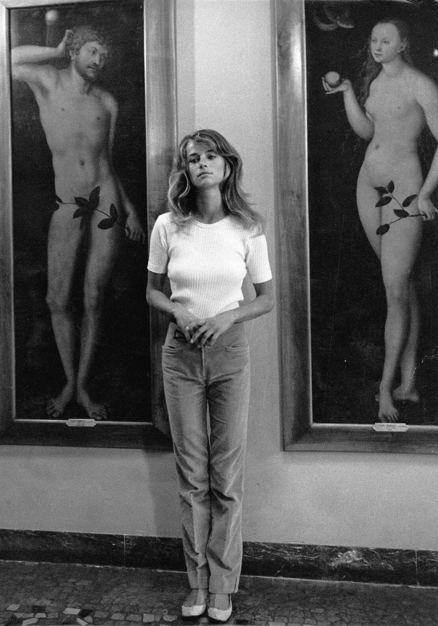 Charlotte Rampling photographed by Helmut Newton, 1973