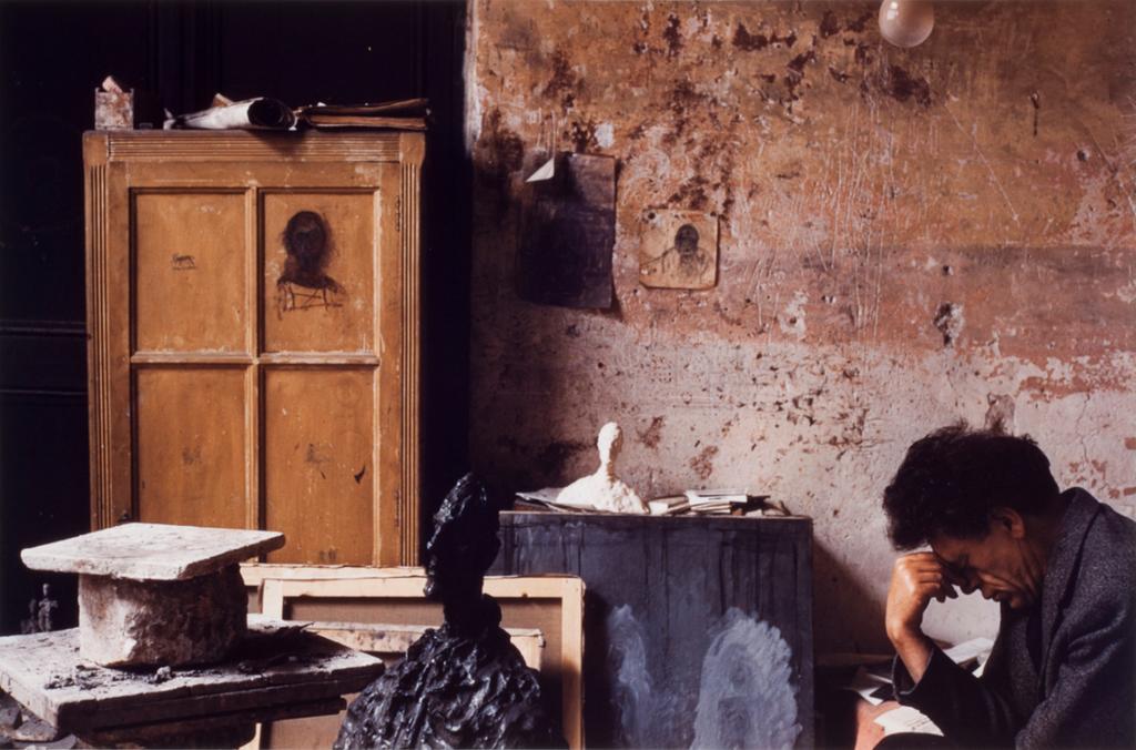 Alberto Giacometti in his Paris studio, 1955 by by Alexander Liberman