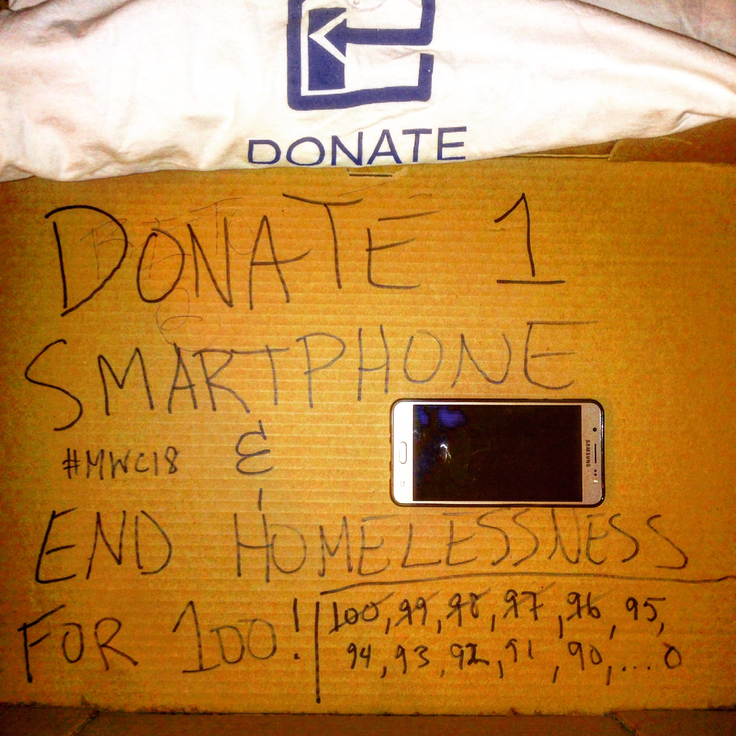 We have already received 5 smartphones so we only need 95 more! 1 LG, 2 Samsungs & 2  iPhones.