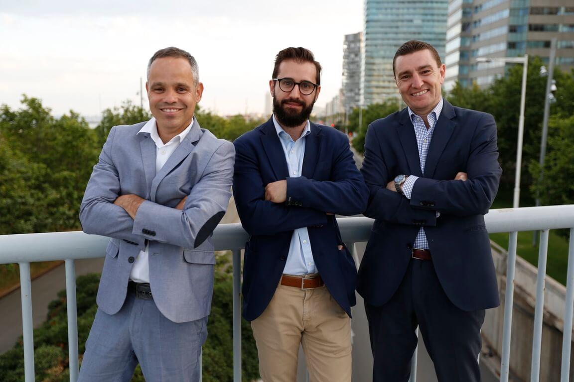 Renato de Castro, Alberto García y Daniel Marco