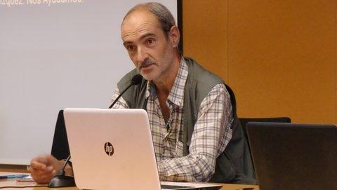 La primera ponencia de Ramón como #HomelessEntrepreneur en la Universitat Rovira i Virgili (Tarragona).